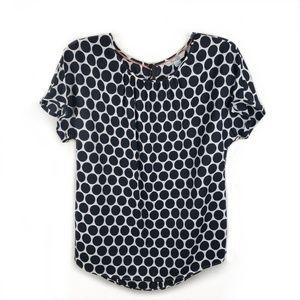 Boden Ravello polka dot silk blend blouse size 6
